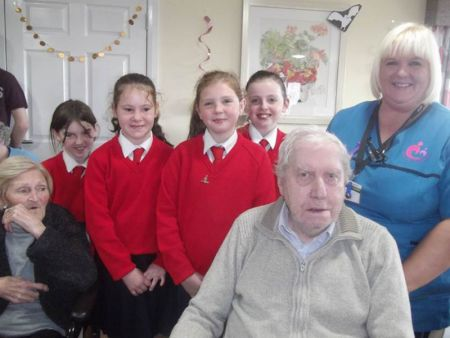Choir visit Bradley Manor Care Home