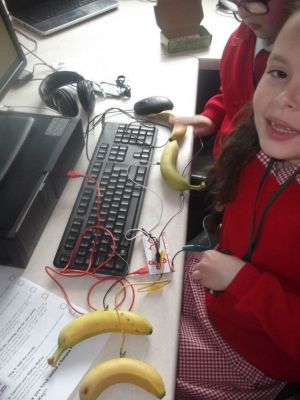 Coding a banana to play music